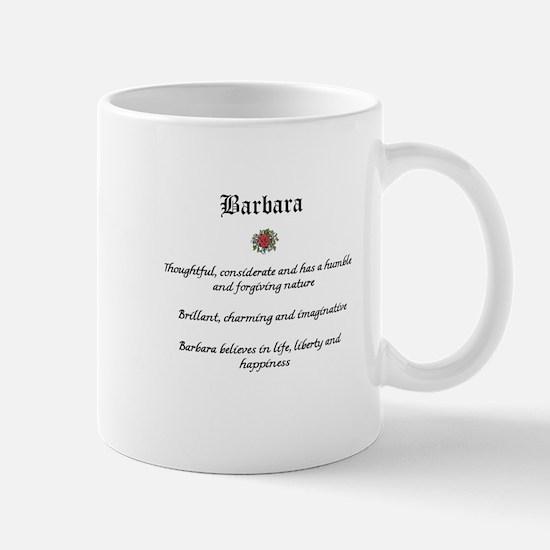 Barbara name meaning Mugs