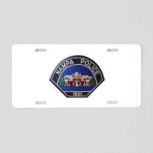 Nampa Police Aluminum License Plate