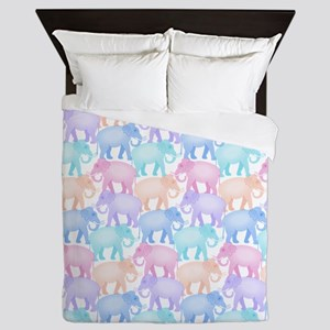 Cute Elephant Pattern Queen Duvet