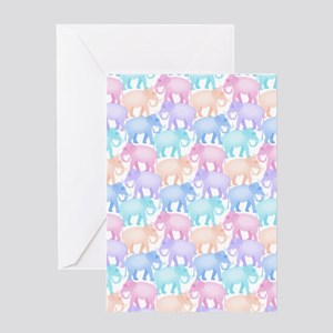 Cute Elephant Pattern Greeting Cards