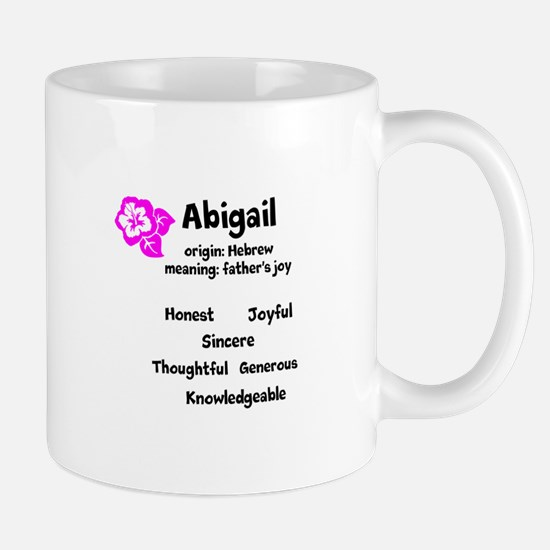 Abigail name design Mugs