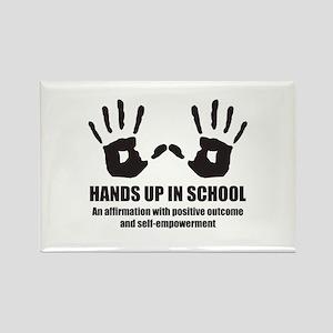 Hands up in school Rectangle Magnet