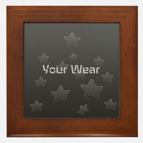 Cool Glossy Star Wear Framed Tile