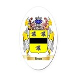 Howe English Oval Car Magnet