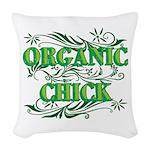Organic Chick Woven Throw Pillow