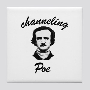 Channeling Poe Tile Coaster
