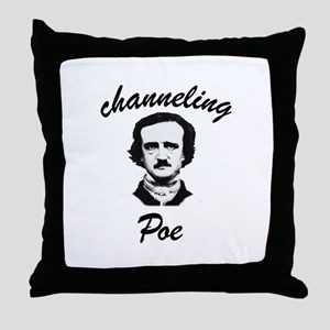 Channeling Poe Throw Pillow