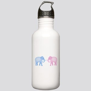 Cute Pink and Blue Ele Stainless Water Bottle 1.0L