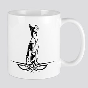 tribal basenji sitting Mug
