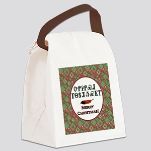 Cherokee Holiday Greetings Canvas Lunch Bag
