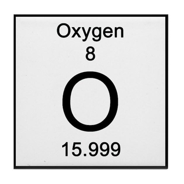 8 oxygen tile coaster by science lady
