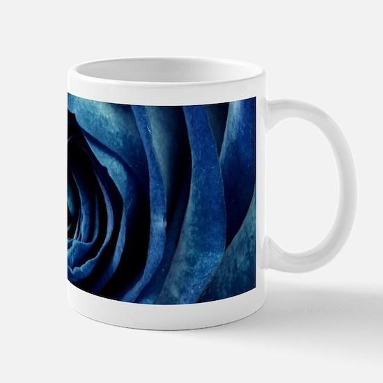 Decorative Blue Rose Bloom Mugs
