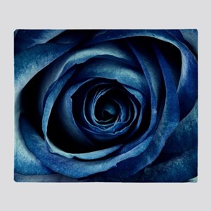 Decorative Blue Rose Bloom Throw Blanket