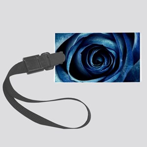 Decorative Blue Rose Bloom Large Luggage Tag
