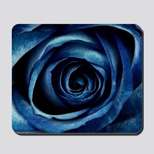 Decorative Blue Rose Bloom Mousepad