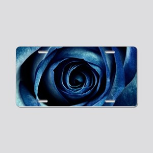Decorative Blue Rose Bloom Aluminum License Plate