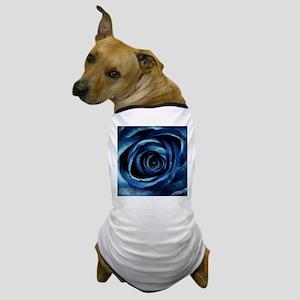 Decorative Blue Rose Bloom Dog T-Shirt
