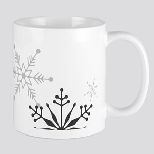 Snowflakes in Black and White Mug
