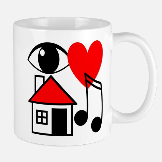 I Love House Music Mugs