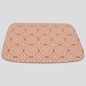 Celosia Orange & White Lace 2 Bathmat