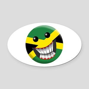 jamaican Oval Car Magnet