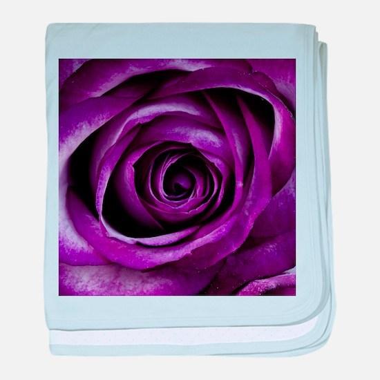Purple Rose Flower baby blanket