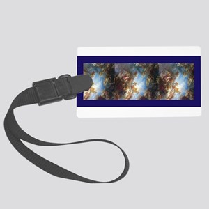 Blue Versailles Scarf Luggage Tag