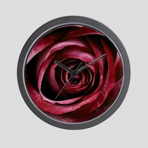 Dark Red Rose Wall Clock