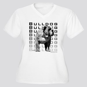 Urban Bulldog I Women's Plus Size V-Neck T-Shirt