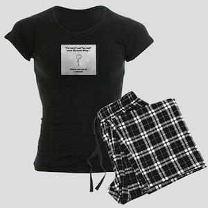 Funeral Director Women's Dark Pajamas