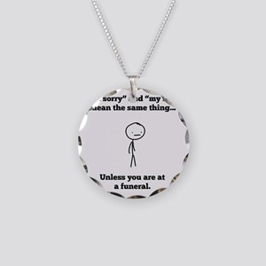 Funeral Director Necklace Circle Charm