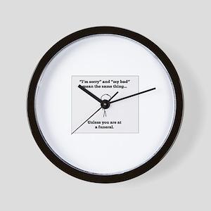 Funeral Director Wall Clock