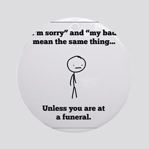 Funeral Director Ornament (Round)