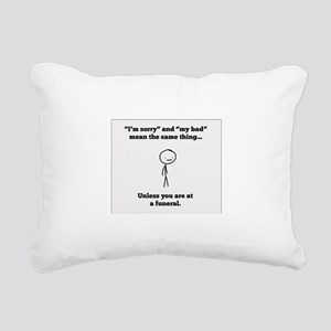 Funeral Director Rectangular Canvas Pillow