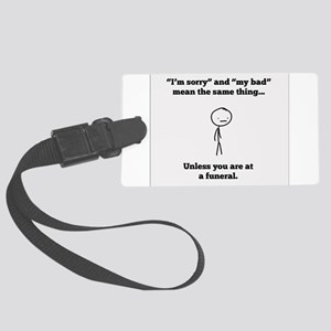Funeral Director Large Luggage Tag