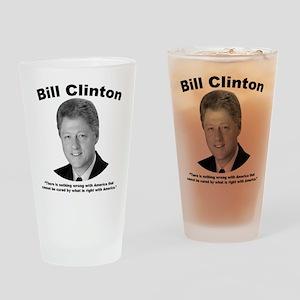 Clinton: America Drinking Glass