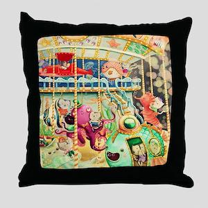 Nautical Carousel Throw Pillow