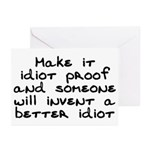 Make it idiot proof - Greeting Cards (Pk of 20)