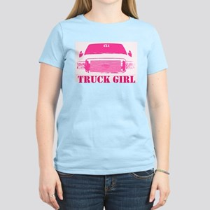 Truck Girl Pink 4x4 Women's Light T-Shirt