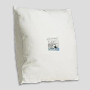 Sterile Promentory Burlap Throw Pillow