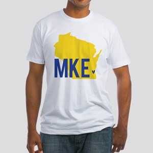 MKE Blue & Yellow Fitted T-Shirt