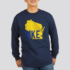 MKE Blue & Yellow Long Sleeve Dark T-Shirt