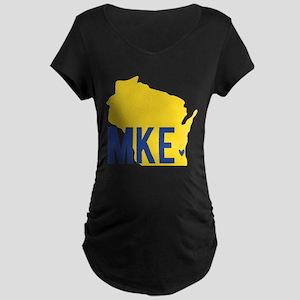 MKE Blue & Yellow Maternity Dark T-Shirt