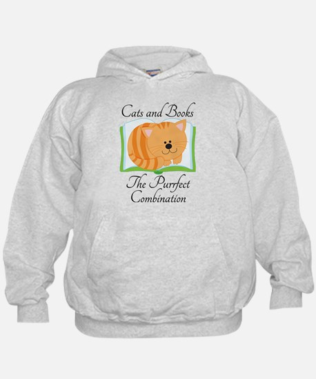 Cute Cats and Book Sweatshirt