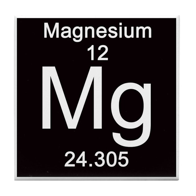 12 Magnesium Tile Coaster By Sciencelady