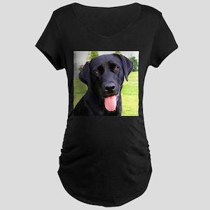 Black Lab Maternity T-Shirt