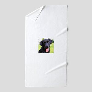 Black Lab Beach Towel