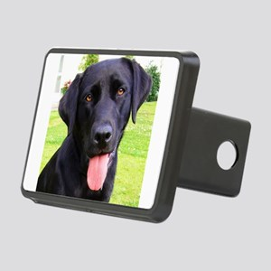 Black Lab Rectangular Hitch Cover
