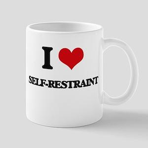 I Love Self-Restraint Mugs
