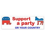 Support Your Country Bumper Sticker